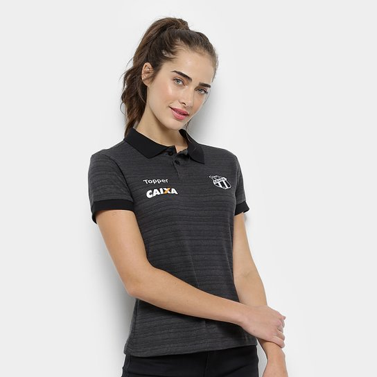 38e7f6827b Camisa Polo Ceará Viagem 2018 Topper Feminina - Preto - Compre Agora ...