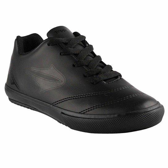 Chuteira Topper Futsal Boleiro Infantil - Preto - Compre Agora ... ff70f22e65853