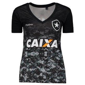 Camisa Topper Botafogo Aquecimento 2017 Feminina 41f826c414a7a