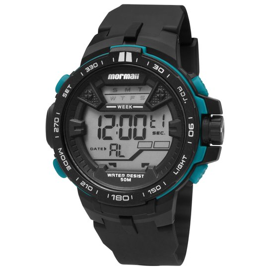 e1dfe03ea Relógio Masculino Mormaii MO3415 8Y - Preto e Verde Água - Compre ...