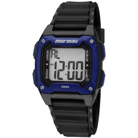 2b19ae9b02c54 Relógio Masculino Mormaii MOY15168 - Preto e Marinho - Compre Agora ...