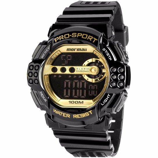 ea3d194cb7d Relógio Mormaii Masculino MO13613B 8D Preto   Dourado - Compre Agora ...