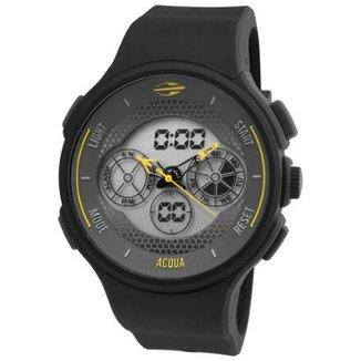 Relógio Masculino Mormaii Acqua MO160323AK 8Y 47mm Preto Pulseira Silicone c42d883221