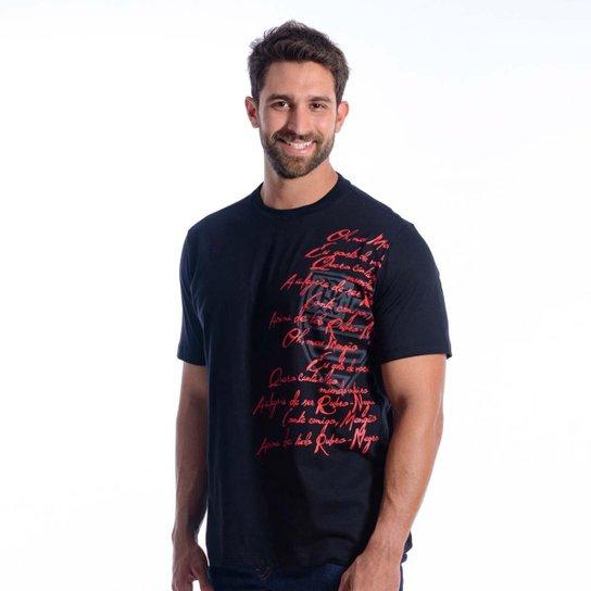 52db91d715 Camiseta Flamengo Hero Braziline Masculina - Preto
