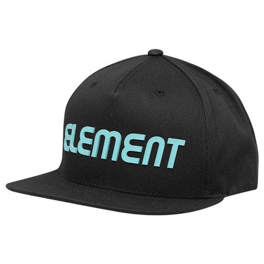 Boné Element Snap Letter Class R - Preto+Azul claro 33eb1289b80