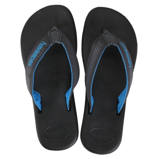 cc40ce925 Chinelo Havaianas Surf Pro Masculino - Preto e Azul Turquesa | Netshoes