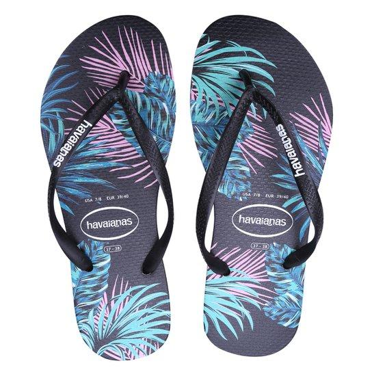 Chinelo Havaianas Tropical Floral Feminino - Preto - Compre Agora ... 37fa936f32f