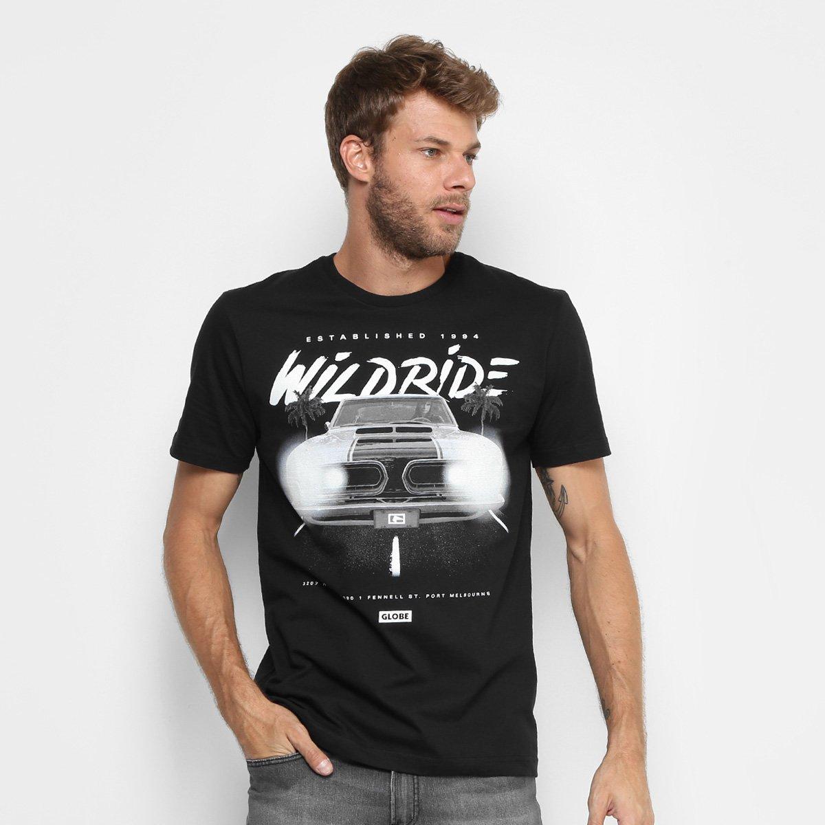 6cc61d842e Camiseta Globe Básica Glow Wilk Ride Masculina