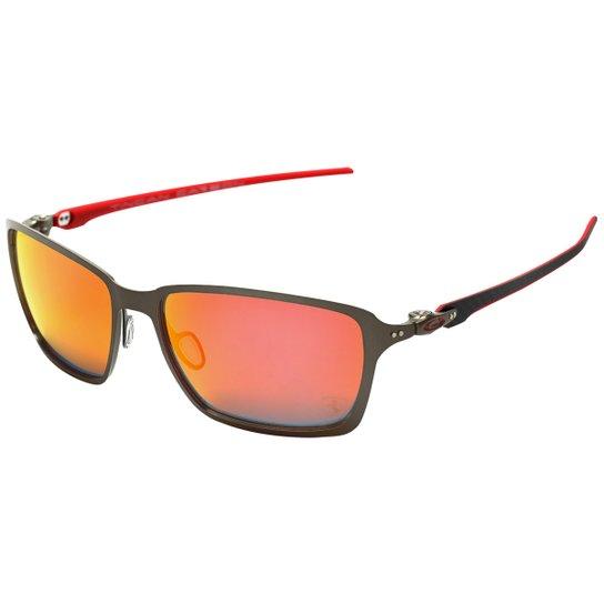 c9c3de1fee085 Óculos Oakley Ferrari Tincan Carbon - Iridium - Preto+Vermelho