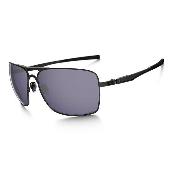 ab4b2ed51 Óculos Oakley Plaintiff Squared Matte Black / Grey Polarizado   Netshoes
