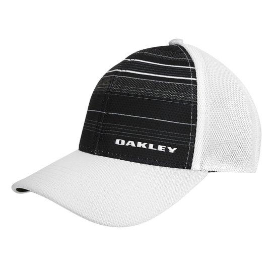 Boné Oakley Aba Curva Silicone Bark Trucker Print 2.0 Masculino - Preto cec2e33d9b4