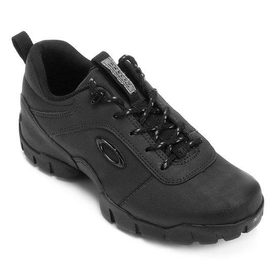 bbef4470b114c Tênis Couro Oakley Enduro Masculino - Preto - Compre Agora   Netshoes