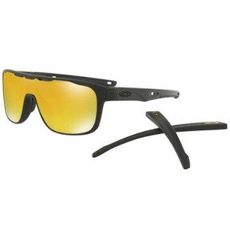 ec87c8b7a2d3b Óculos Oakley Crossrange Shield Matte Black   24k