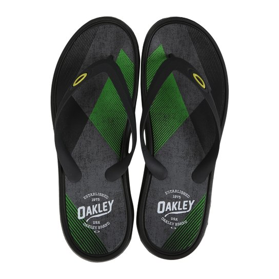 Chinelo Oakley Splash Print Masculino - Preto - Compre Agora  5bc332b63ee50