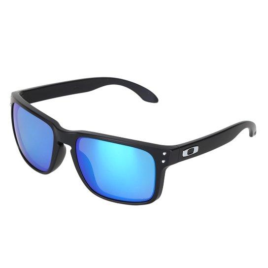 3360401bde398 Óculos de Sol Oakley Polarized Masculino - Azul - Compre Agora ...