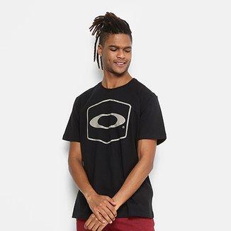 Camiseta Oakley Hexagonal Tee Estampada Masculina dce2431816e