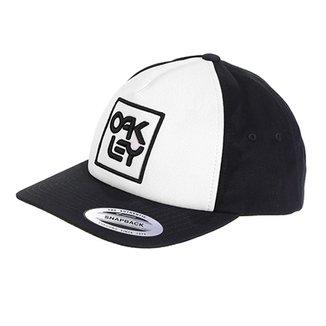 Boné Oakley Aba Reta Mod Snapback Logo Masculino 65edef8668b