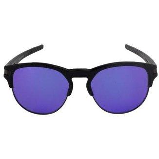 3db6bfb4d9a0f Óculos de Sol Oakley Latch Key Violet Iridium Masculino