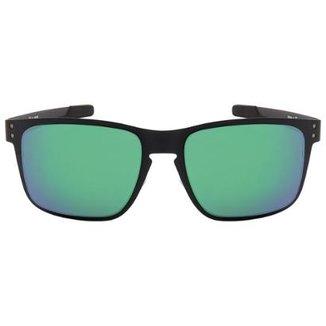 Óculos de Sol Oakley Holbrook Metal OO4123 - Matte Black - Jade Iridium -  412304  deae7a2f7e