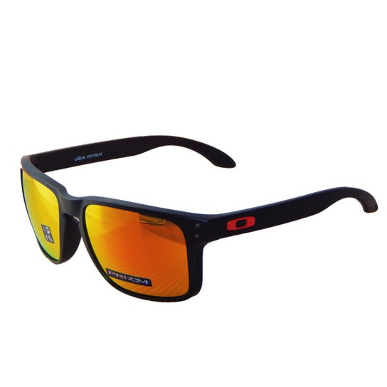 3b564754eefb9 Óculos de Sol Oakley Holbrook XL OO9417 - Matte Black - Prizm Ruby - 04