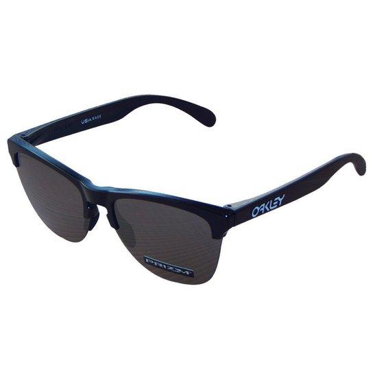 5273f3305 Óculos Oakley Frogskins Lite Polished Black/ Lente Prizm Black Iridium -  Preto