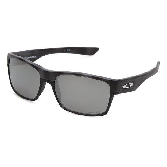 86dc3d32ec102 Óculos Oakley Twoface Polarizado 0OO9189 Masculina - Preto - Compre ...