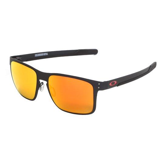3977f7ea3bc40 Óculos De Sol Oakley Holbrook Metal Prizm Masculino - Preto - Compre ...
