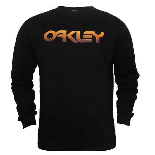 57b2172baad6 Moletom Oakley Mark II Pixel Tone Crew Masculino - Preto   Netshoes