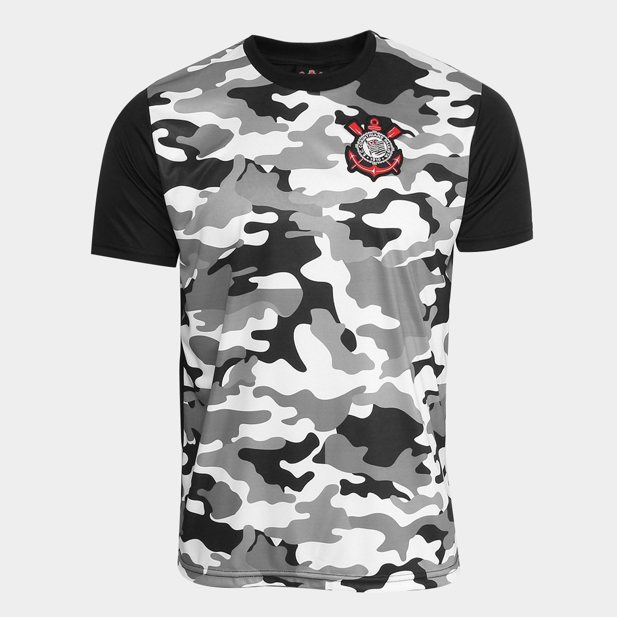 Camisa Corinthians Warriors C  Patch Masculina 4439bd00aee55