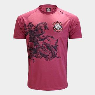 Camisa Corinthians São Jorge Edição Limitada C  Patch Masculina c04039a90fc92