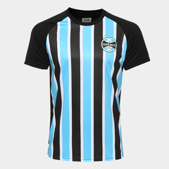 d859087aa4803 Camisa Grêmio Stripes Masculina - Preto - Compre Agora