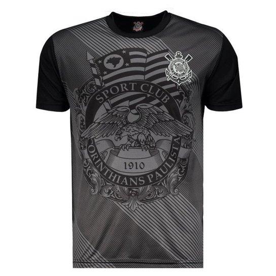 Camisa Corinthians Águia Sublimada Masculina - Preto - Compre Agora ... 0e80150b454af