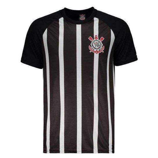 f153bd0da9 Camisa Corinthians Raglan Masculina - Preto - Compre Agora