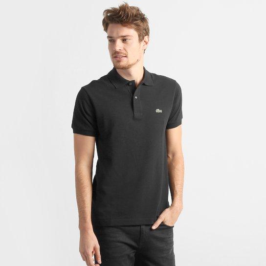 1427d63ede33a Camisa Polo Lacoste Original Fit Masculina - Preto - Compre Agora ...