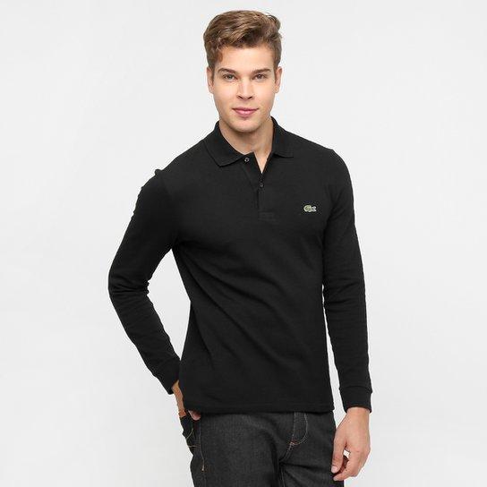 Camisa Polo Lacoste Manga Longa Piquet Masculina - Compre Agora ... 3a2e38d6473e2