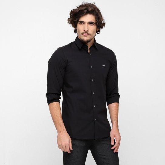 3af3ad1b1f Camisa Lacoste Slim Fit Lisa - Preto