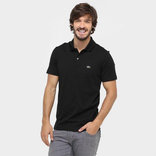 Camisa Polo Lacoste Malha Original Fit Masculina - Preto - Compre ... b6a586133c