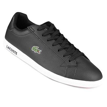 Tênis Couro Lacoste Gradt Lcr3 Bkbk Masculino   Netshoes   Troque ... 91e699cc0d