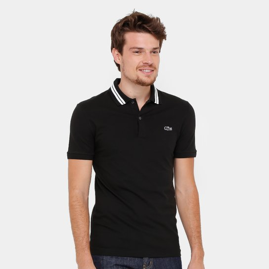 4ee3dafd13e8e Camisa Polo Lacoste Piquet Slim Fit Rubber Croco Masculina - Compre ...