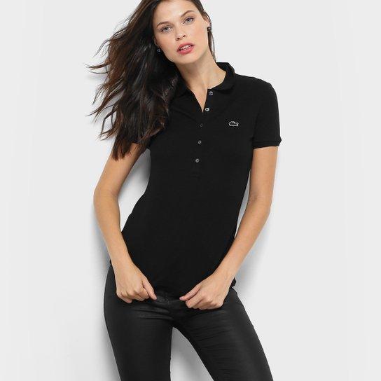 61e881a39d474 Camisa Polo Lacoste Manga Curta Botões Feminina - Compre Agora ...