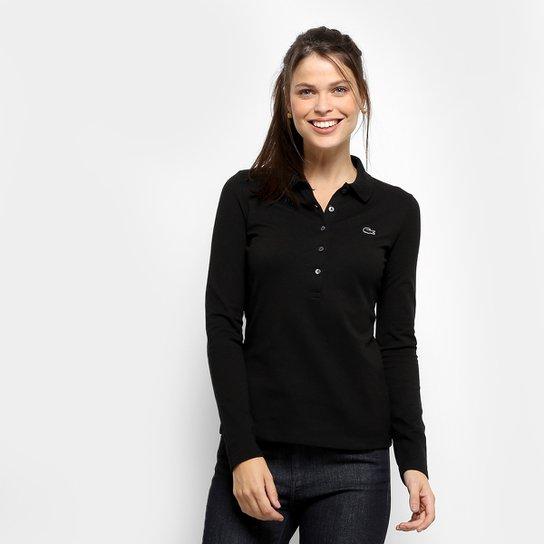 Camisa Polo Lacoste Manga Longa Botões Feminina - Compre Agora ... 8116aecd8f
