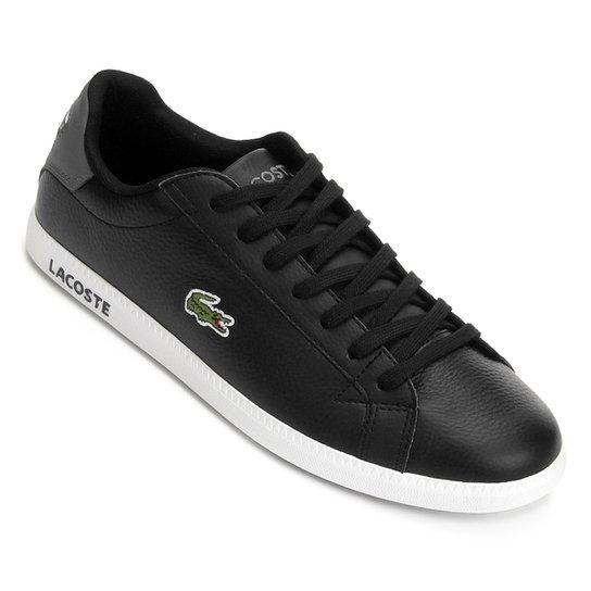 Tênis Lacoste Graduate Masculino - Preto - Compre Agora   Netshoes d2d6d840a4