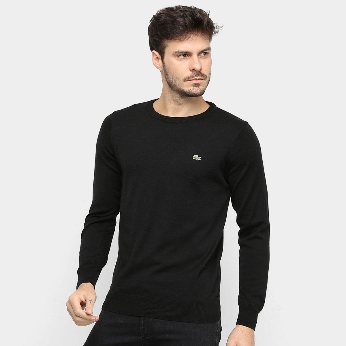 Suéter Tricot Lacoste Manga Longa Masculina