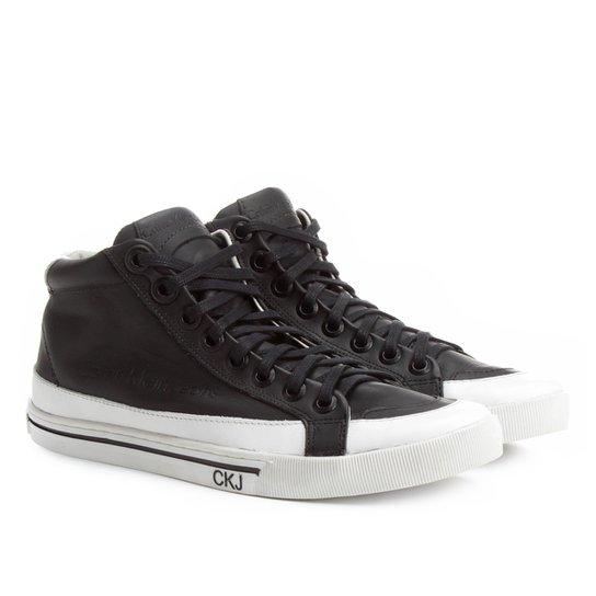 133f70cfbf0eb Tênis Couro Cano Alto Calvin Klein Masculino - Compre Agora   Netshoes