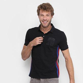 Camisa Polo Calvin Klein Piquet Listra Lateral Masculina e7751195d98
