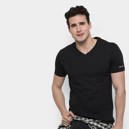 05ecfb1cc0f4d Camiseta Calvin Klein Swimwear Básica Masculina - Compre Agora ...