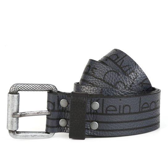00c7dd16d414c Cinto Couro Calvin Klein Listra Masculino - Compre Agora   Netshoes