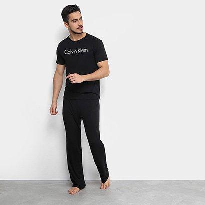 Pijama Calvin Klein Longo De Visco Masculino