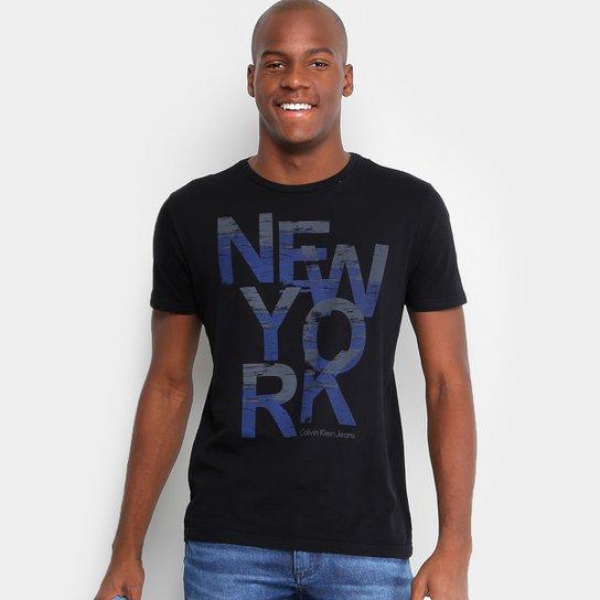 ff5b7e23ce6bb Camiseta Calvin Klein Slim Estampada Masculina - Compre Agora   Netshoes