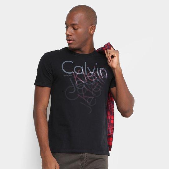 Camiseta Calvin Klein Slim Estampada Masculina - Compre Agora   Netshoes 60d14df429